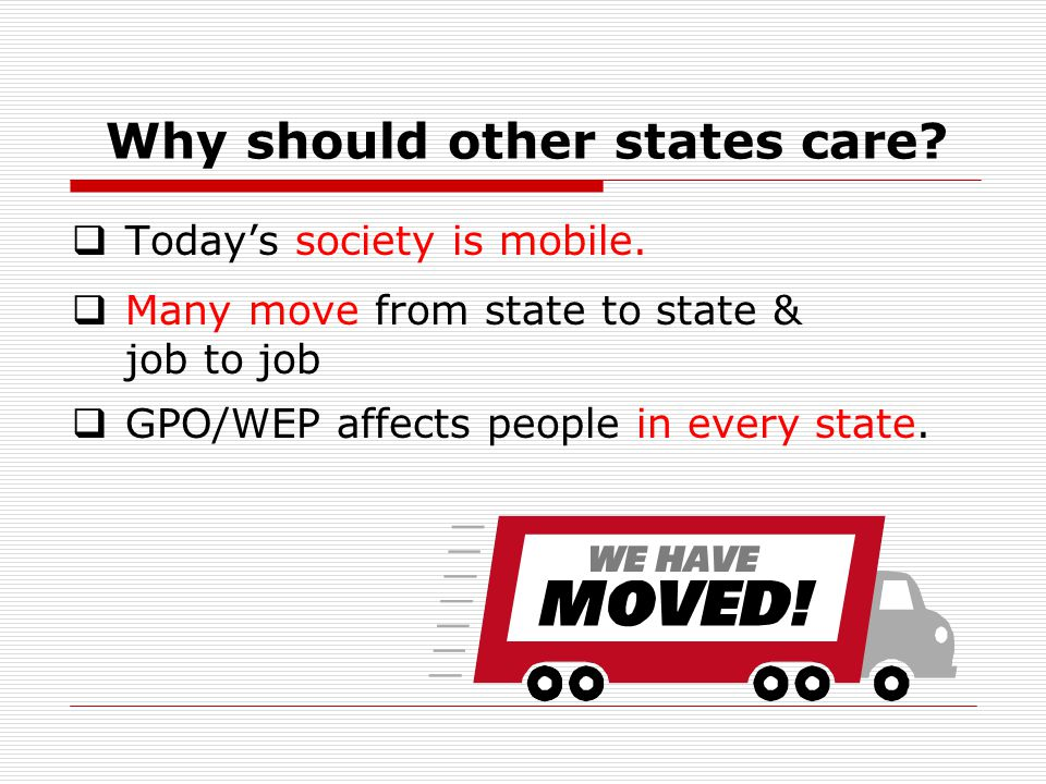 Why should other states care.  Today's society is mobile.