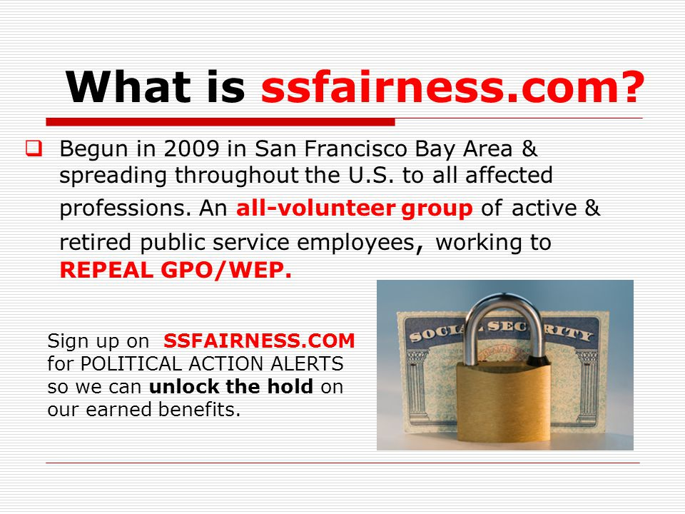 What is ssfairness.com.  Begun in 2009 in San Francisco Bay Area & spreading throughout the U.S.