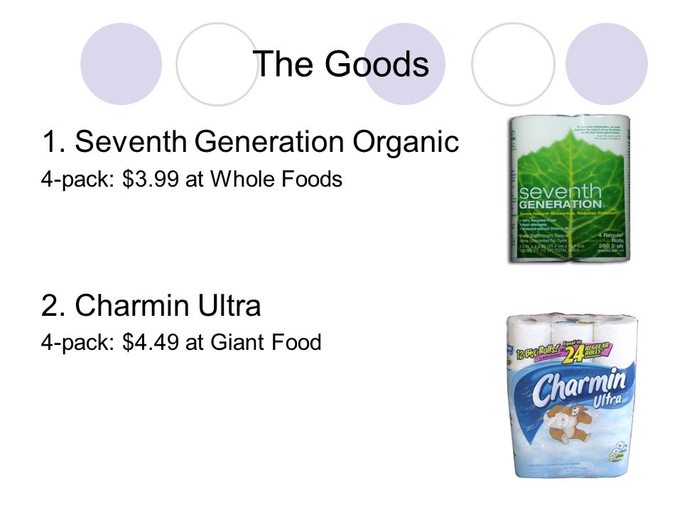 The Goods, continued 3.Cottonelle Double with Ripples 4-pack: $3.79 at Giant Food 4.