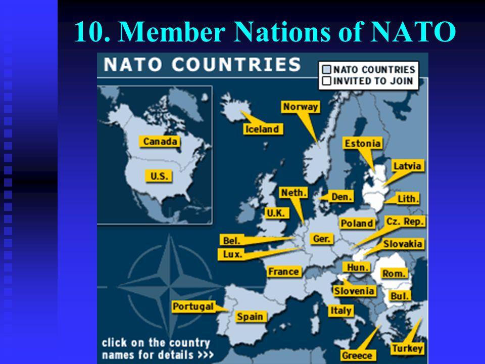 10. Member Nations of NATO