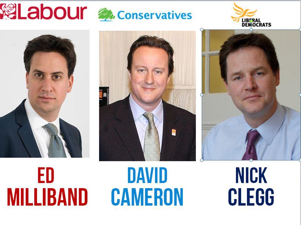 David Cameron ED MILLIBAND NICK clegg