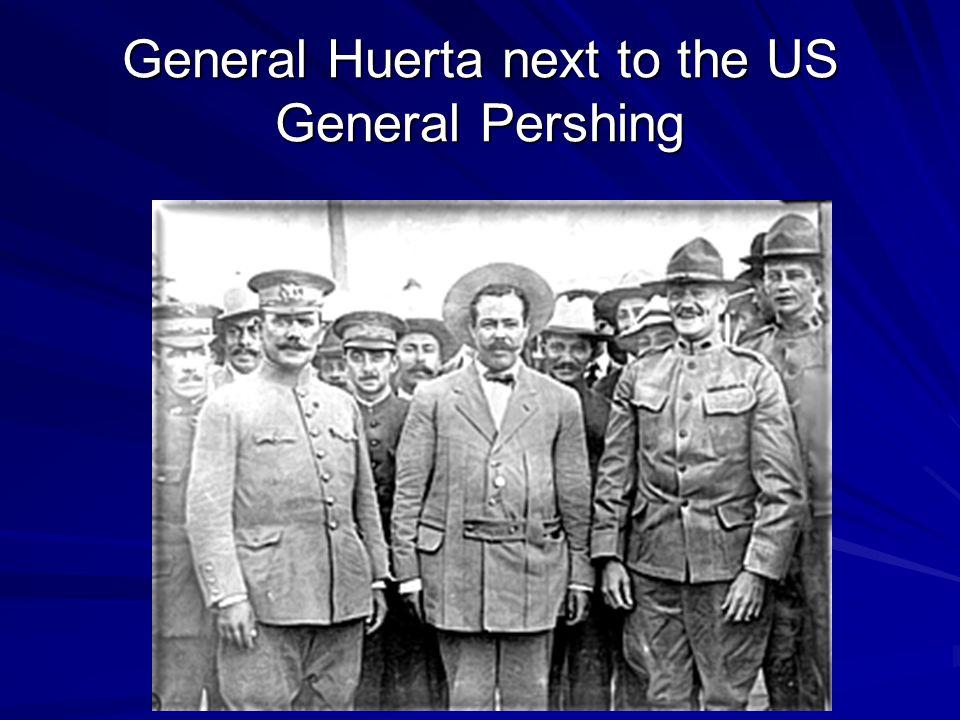 General Huerta next to the US General Pershing