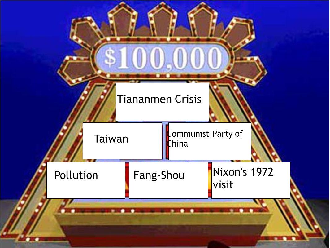 Tiananmen Crisis Taiwan Communist Party of China PollutionFang-Shou Nixon's 1972 visit