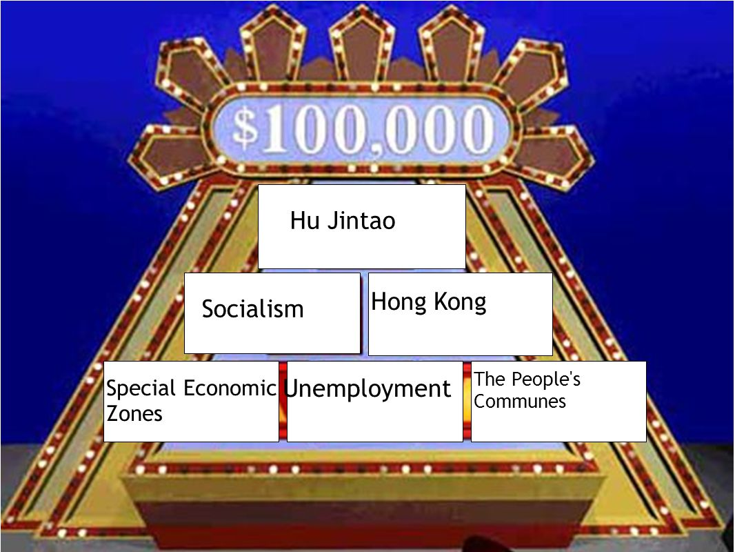 Hu Jintao Socialism Hong Kong Special Economic Zones Unemployment The People s Communes