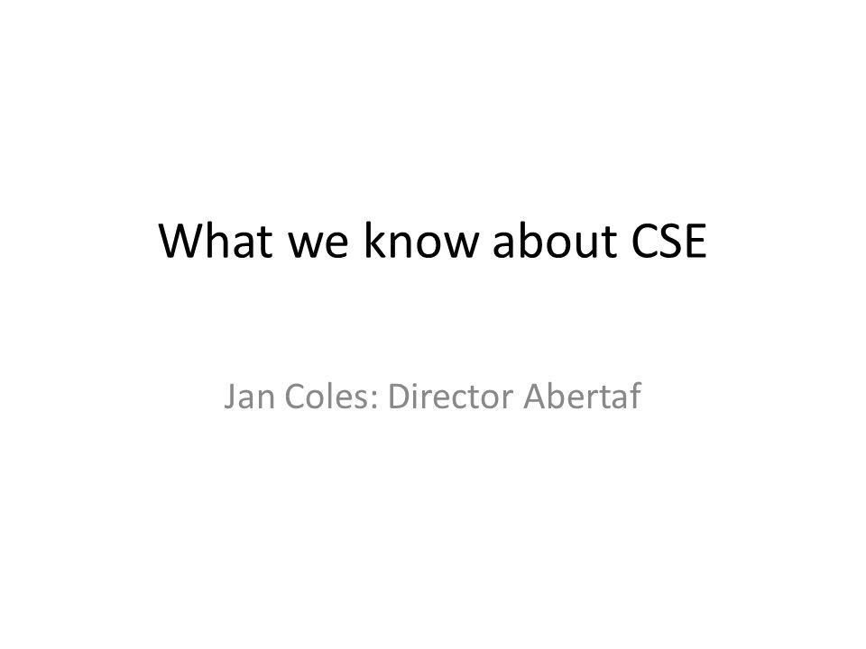 What we know about CSE Jan Coles: Director Abertaf