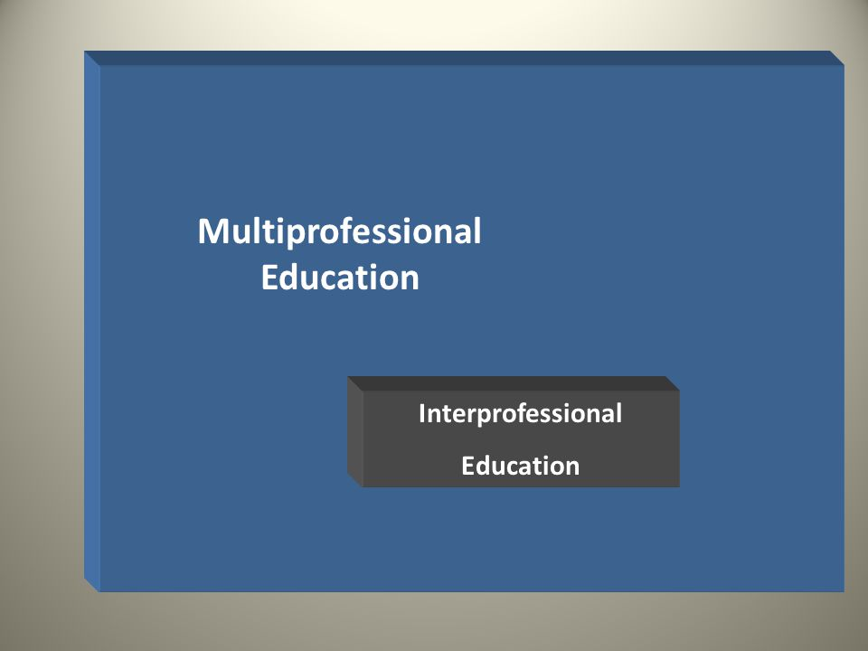 Multiprofessional Education Interprofessional Education