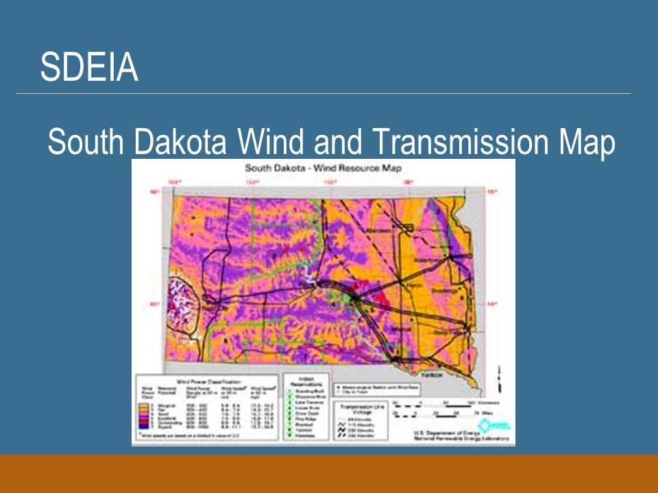 SDEIA South Dakota Wind and Transmission Map