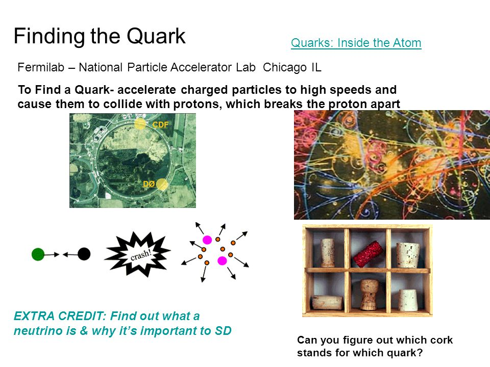 Finding the Quark Can you figure out which cork stands for which quark.