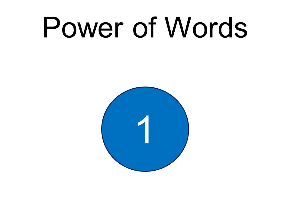 Power of Words 1