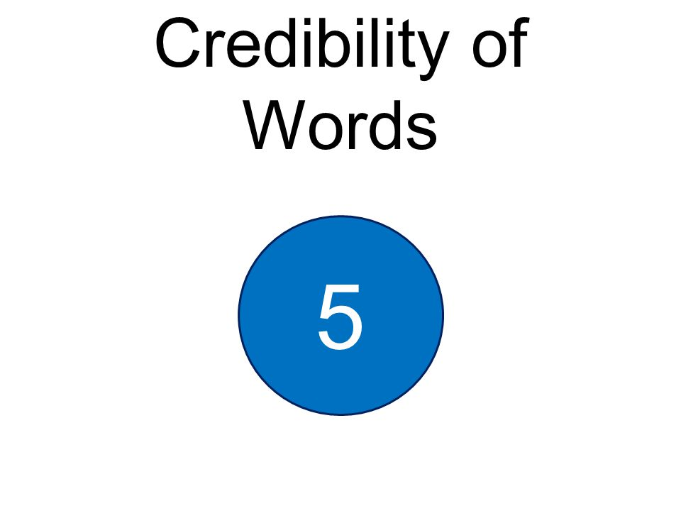 Credibility of Words 5