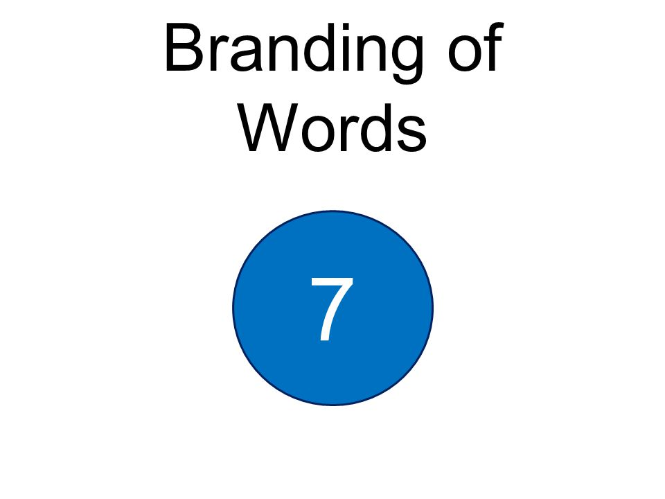 Branding of Words 7
