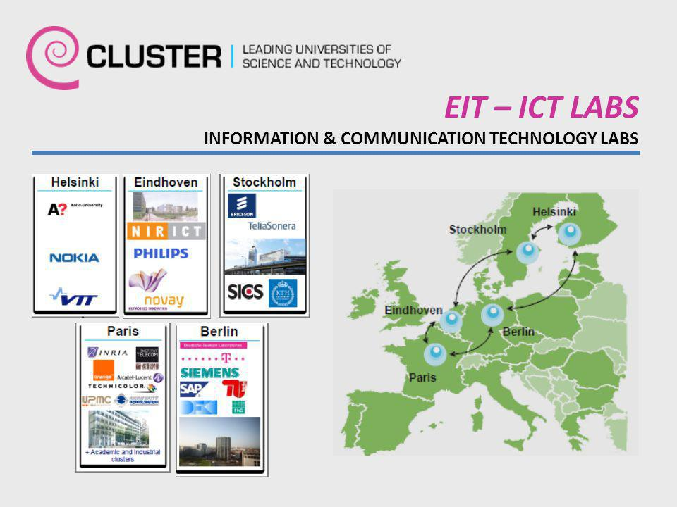 EIT – ICT LABS INFORMATION & COMMUNICATION TECHNOLOGY LABS