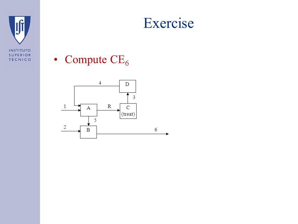Exercise Compute CE 6 B 3 C (treat) D A 4 R 6 1 2 5