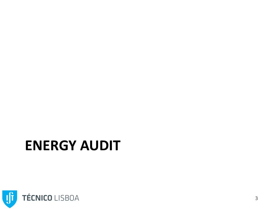 3 ENERGY AUDIT