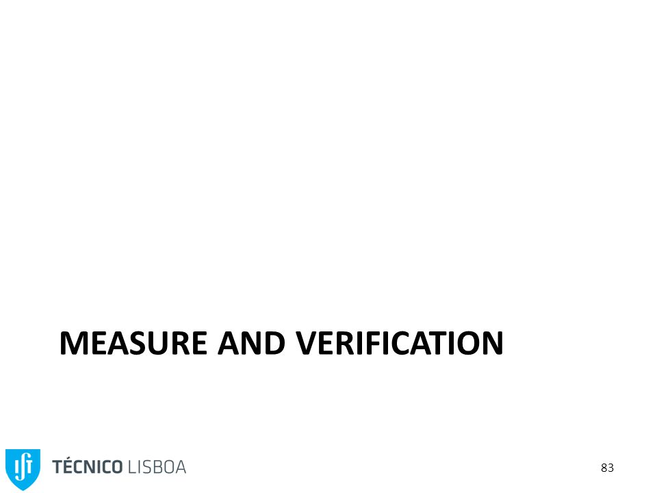 83 MEASURE AND VERIFICATION