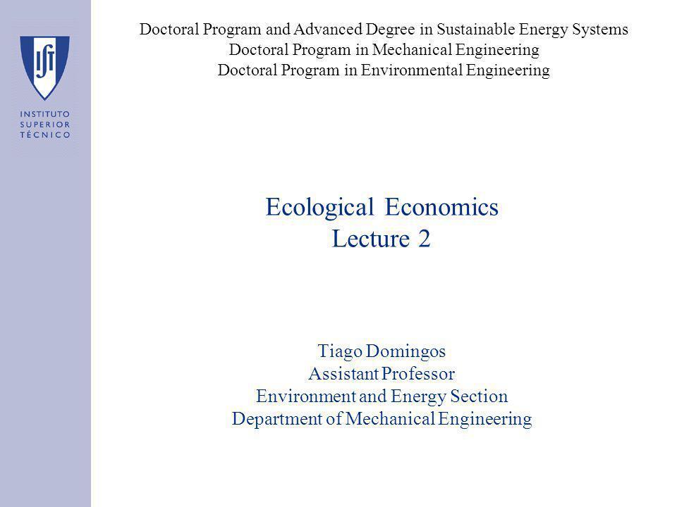 Ecological Economics vs.