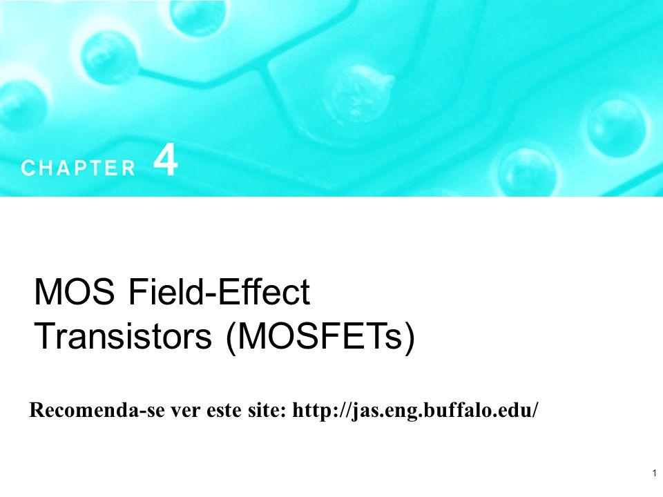 1 MOS Field-Effect Transistors (MOSFETs) Recomenda-se ver este site: http://jas.eng.buffalo.edu/