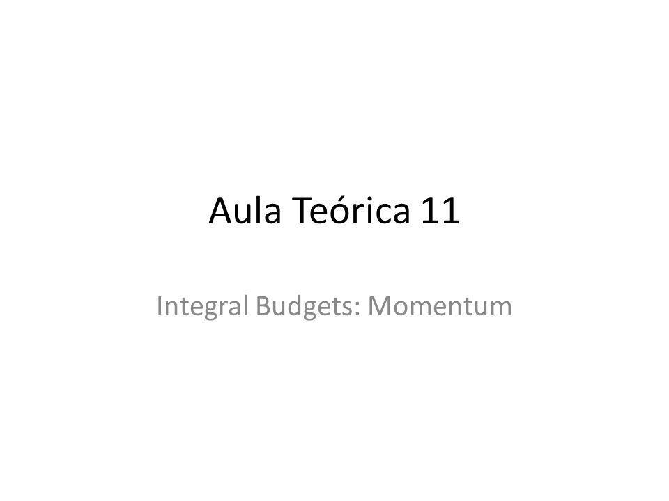 Aula Teórica 11 Integral Budgets: Momentum