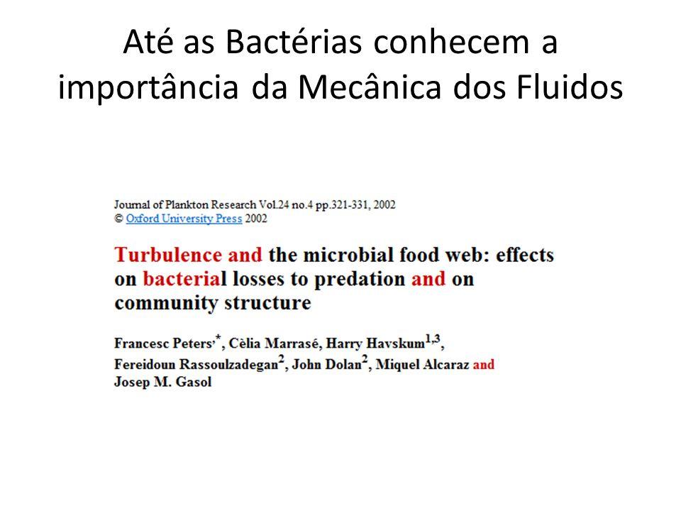 Até as Bactérias conhecem a importância da Mecânica dos Fluidos