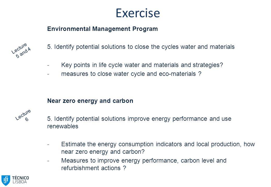 Exercise Environmental Management Program 5.