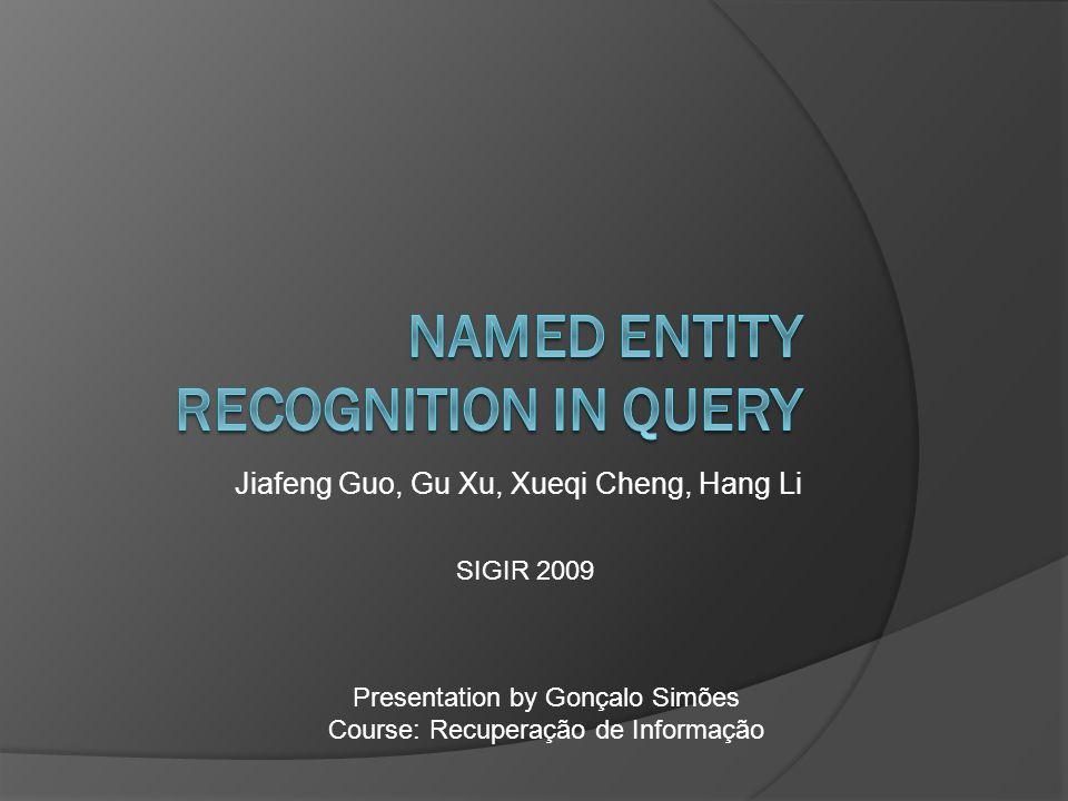 Jiafeng Guo, Gu Xu, Xueqi Cheng, Hang Li Presentation by Gonçalo Simões Course: Recuperação de Informação SIGIR 2009