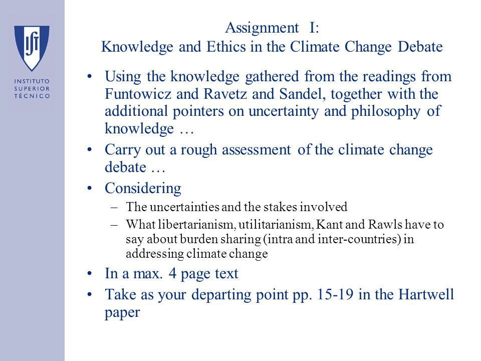 Assignment III: Take II on Assignment 1 + Discounting and Climate Change Considering the following documents … –The Stern Review (2007), pp.