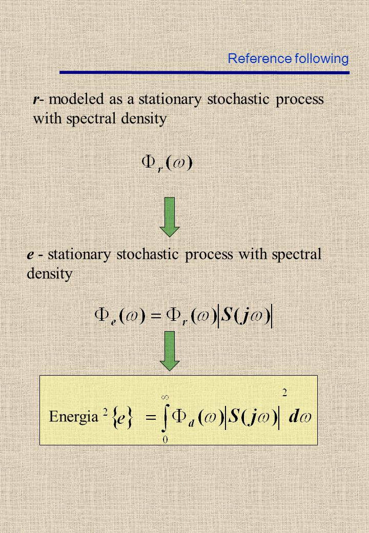 Energia e - stationary stochastic process with spectral density r- modeled as a stationary stochastic process with spectral density Reference following