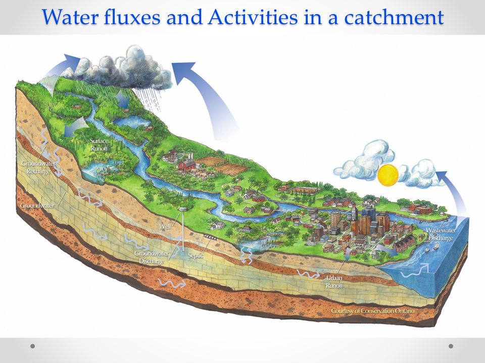 Water fluxes and Activities in a catchment