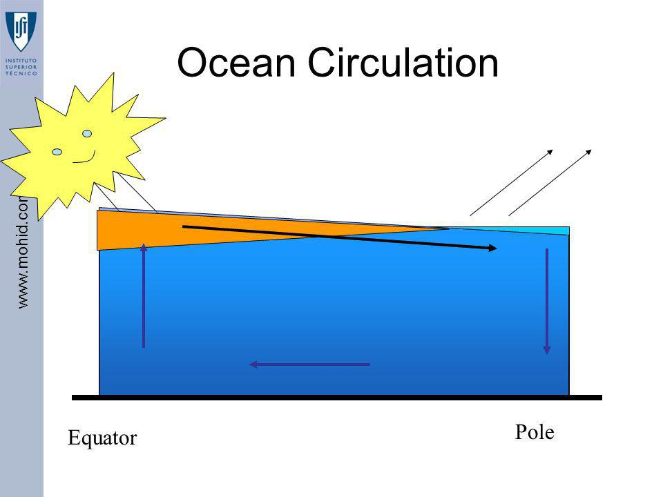 www.mohid.com Equator Pole Ocean Circulation