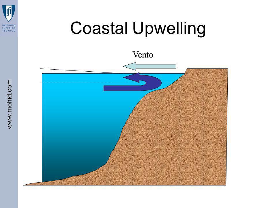 www.mohid.com Coastal Upwelling Vento