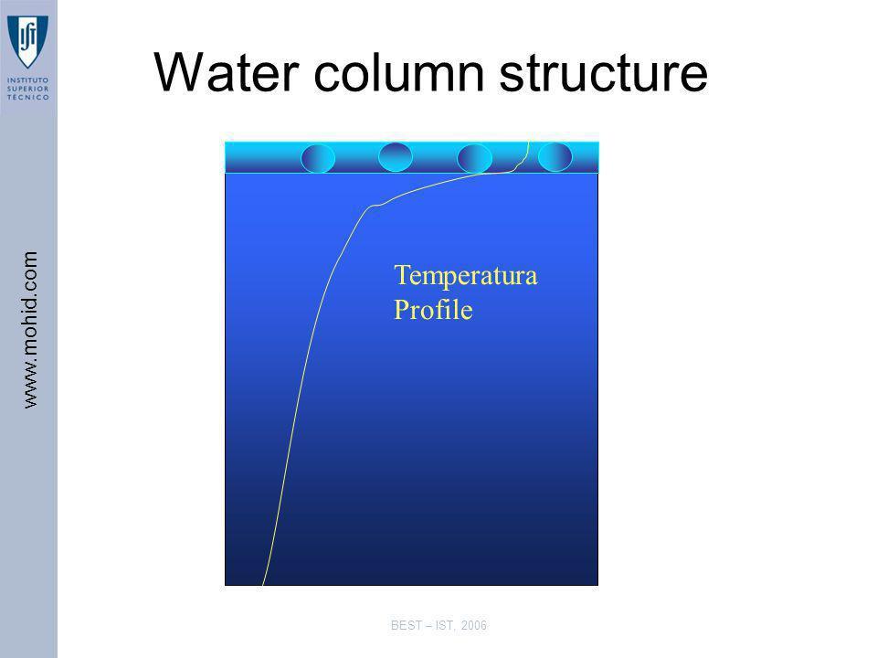 www.mohid.com BEST – IST, 2006 Water column structure Temperatura Profile