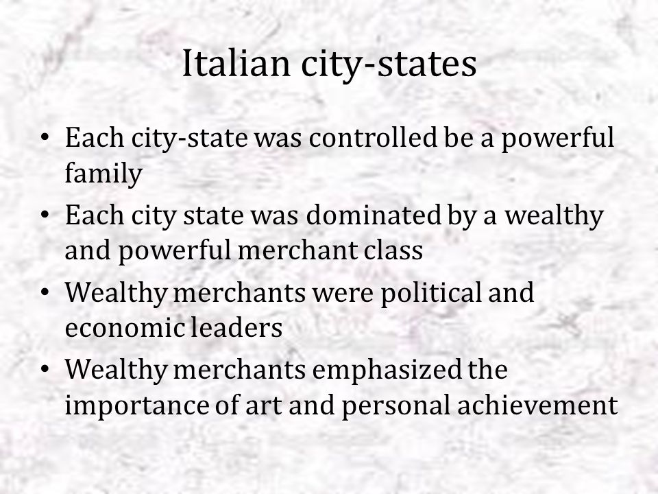 Medici family Ruled Florence Among the richest merchants and bankers in Europe Cosimo deMedici- gained control of Florence in 1434