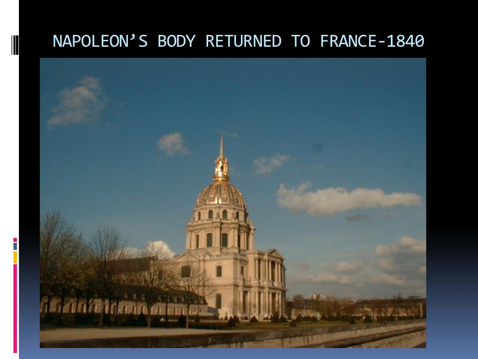 NAPOLEON'S BODY RETURNED TO FRANCE-1840