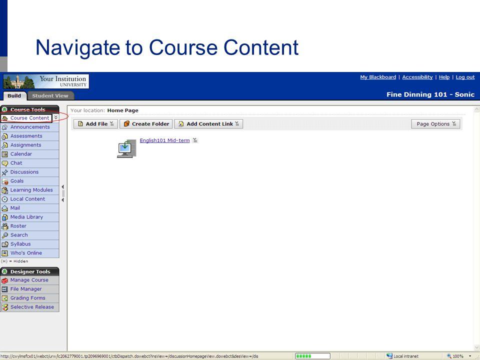 www.Acxiom.com/StudentIdentity 6 Navigate to Course Content