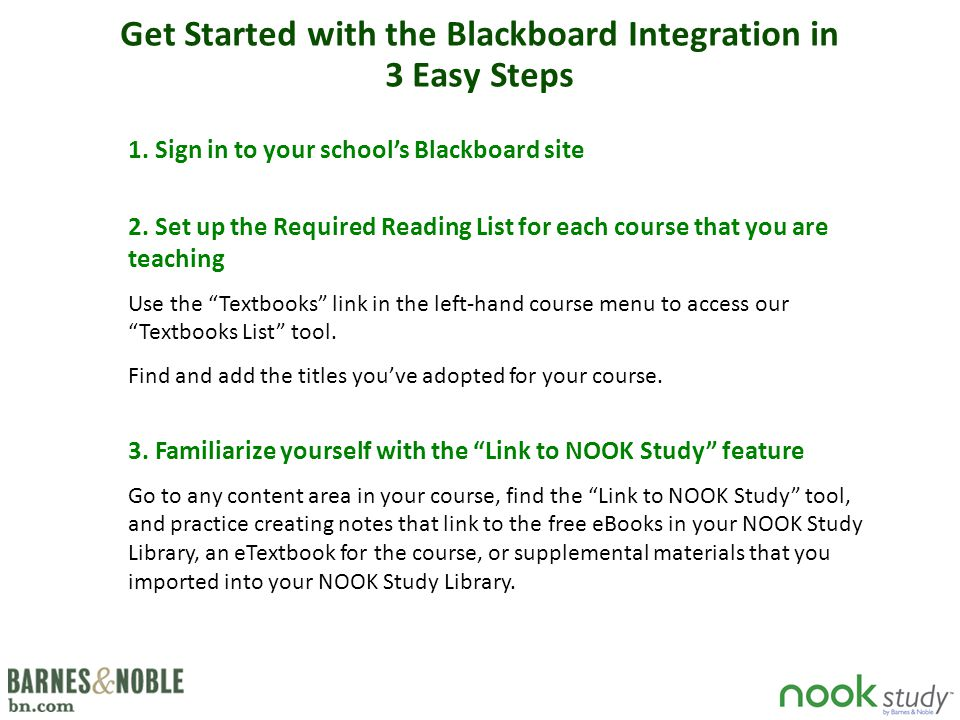 Get Started with the Blackboard Integration in 3 Easy Steps 1.