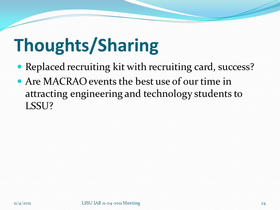 Thoughts/Sharing Replaced recruiting kit with recruiting card, success.