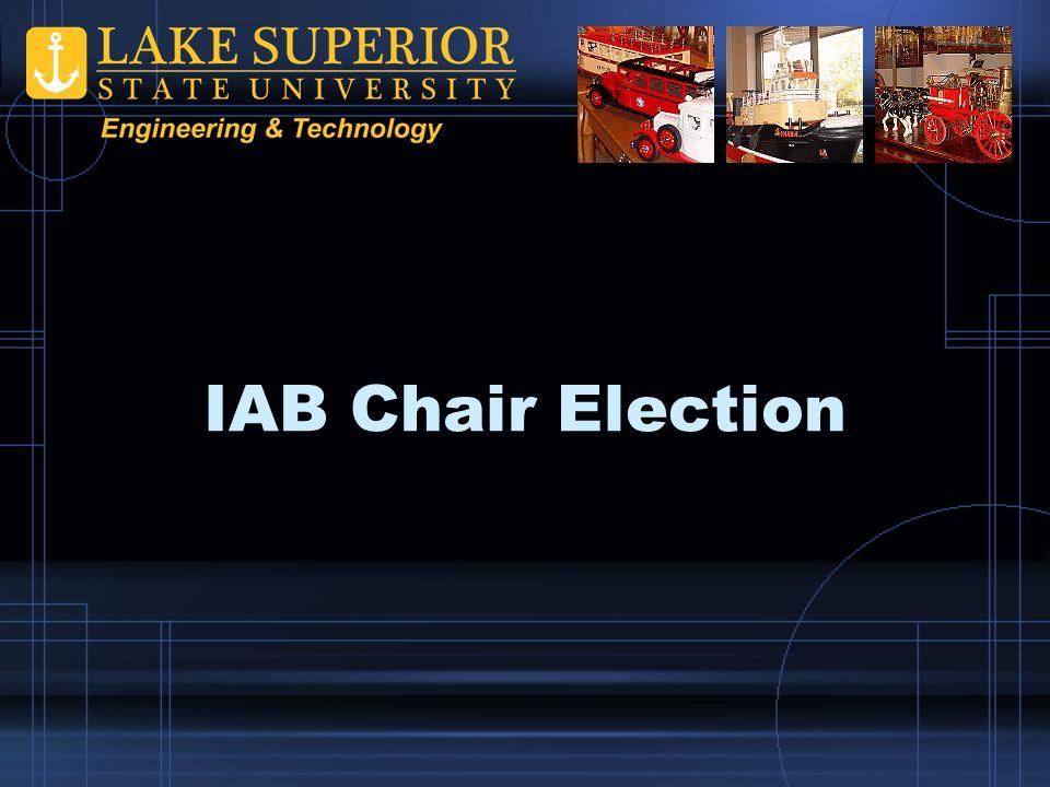IAB Chair Election