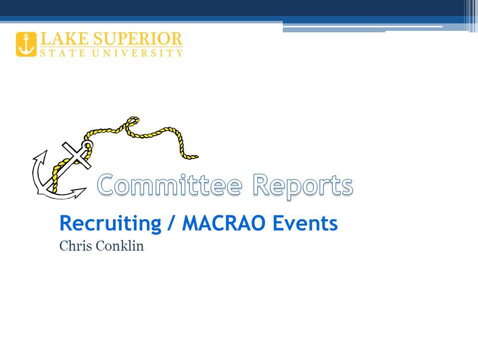 Recruiting / MACRAO Events Chris Conklin