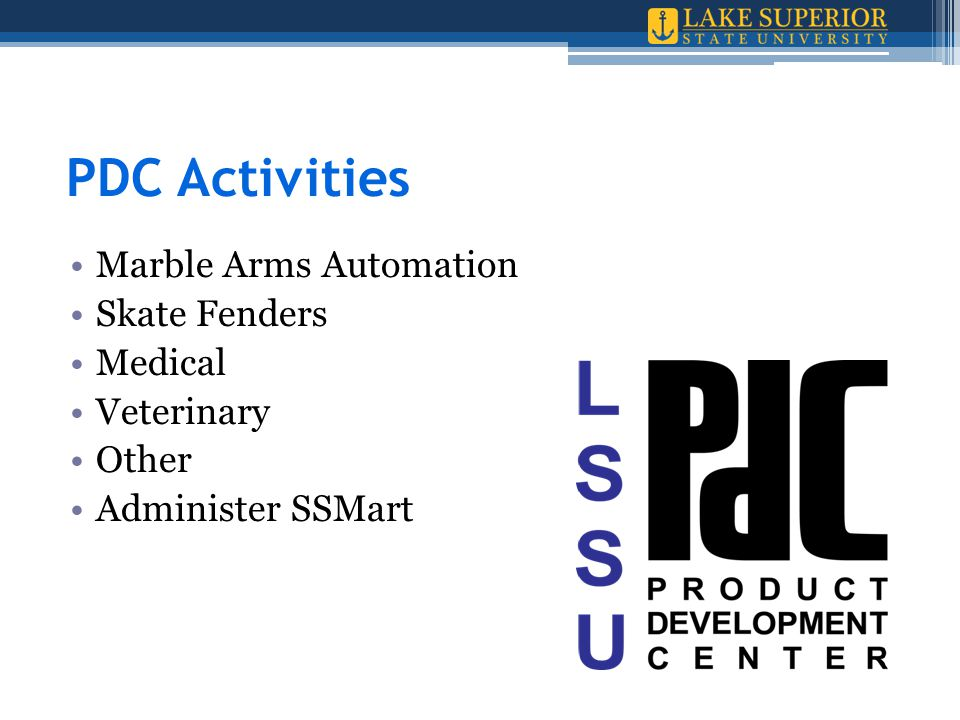 PDC Activities Marble Arms Automation Skate Fenders Medical Veterinary Other Administer SSMart