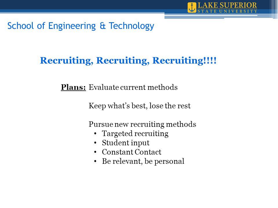 Recruiting, Recruiting, Recruiting!!!.