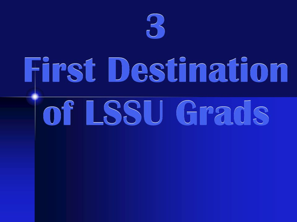 First Destination Report Career Services surveys grads within their first year of graduating.