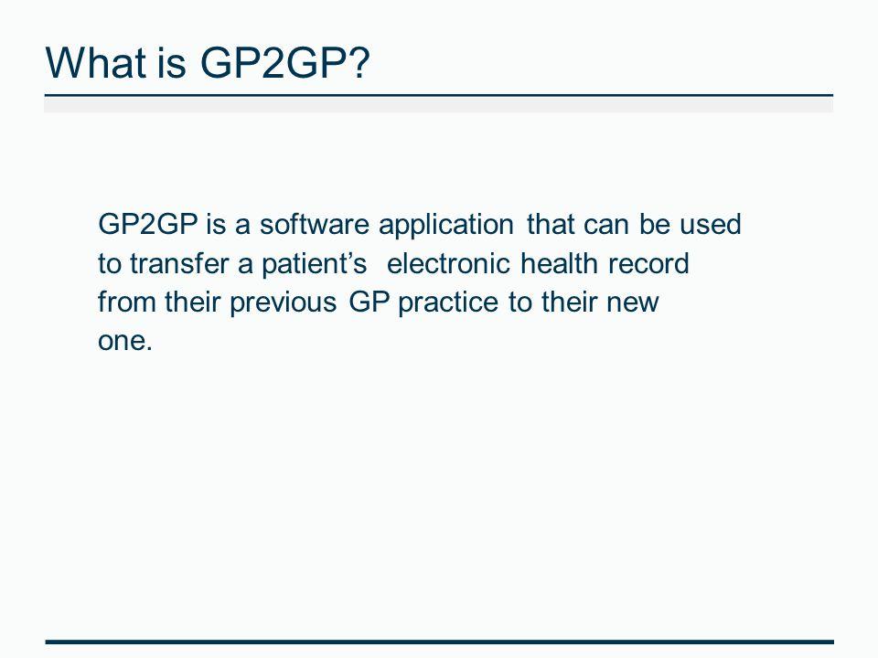 What is GP2GP.