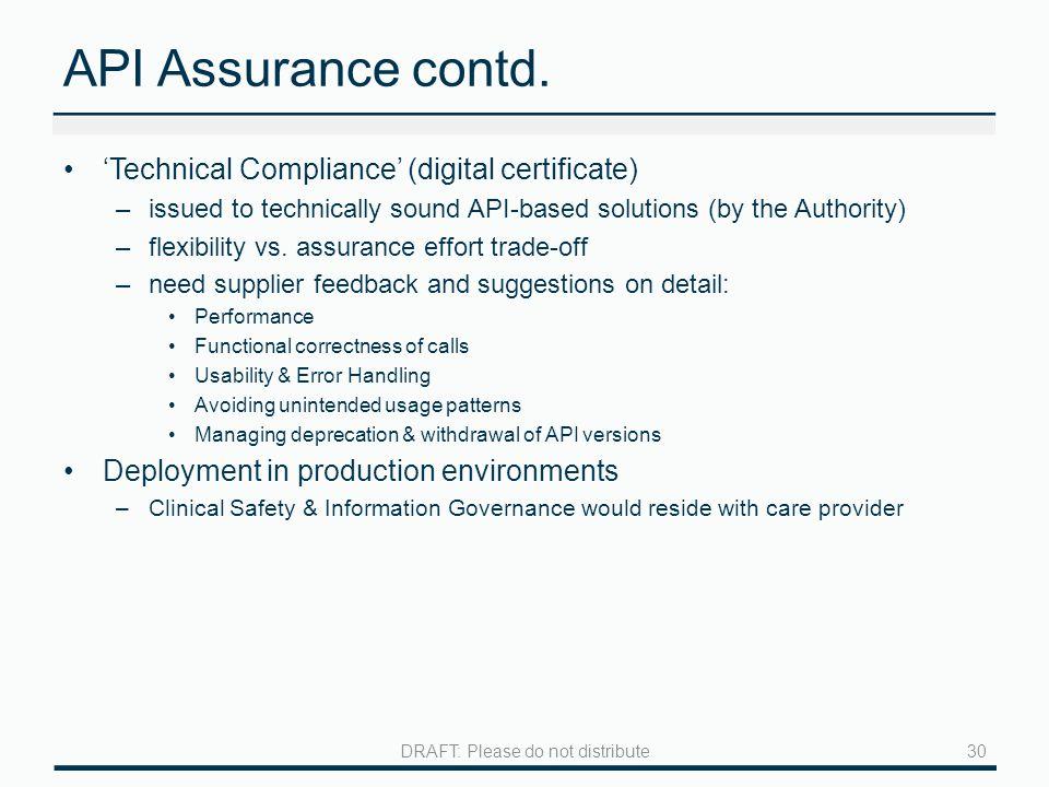 API Assurance contd.