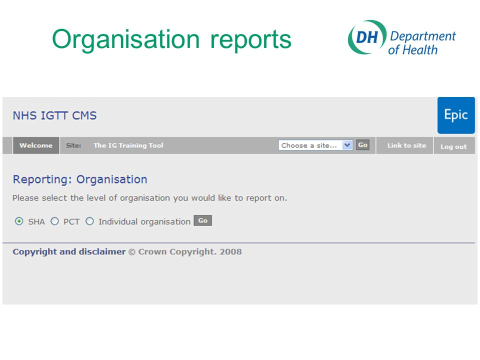 Organisation reports
