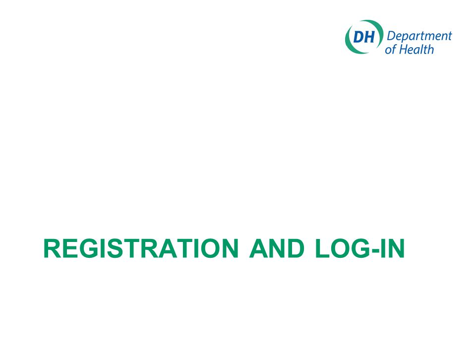 REGISTRATION AND LOG-IN