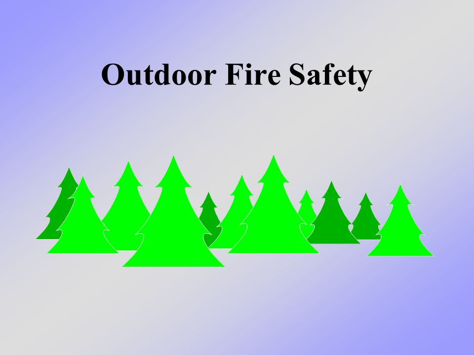 What we will learn today We will learn about keeping safe when we are around fire outdoors.
