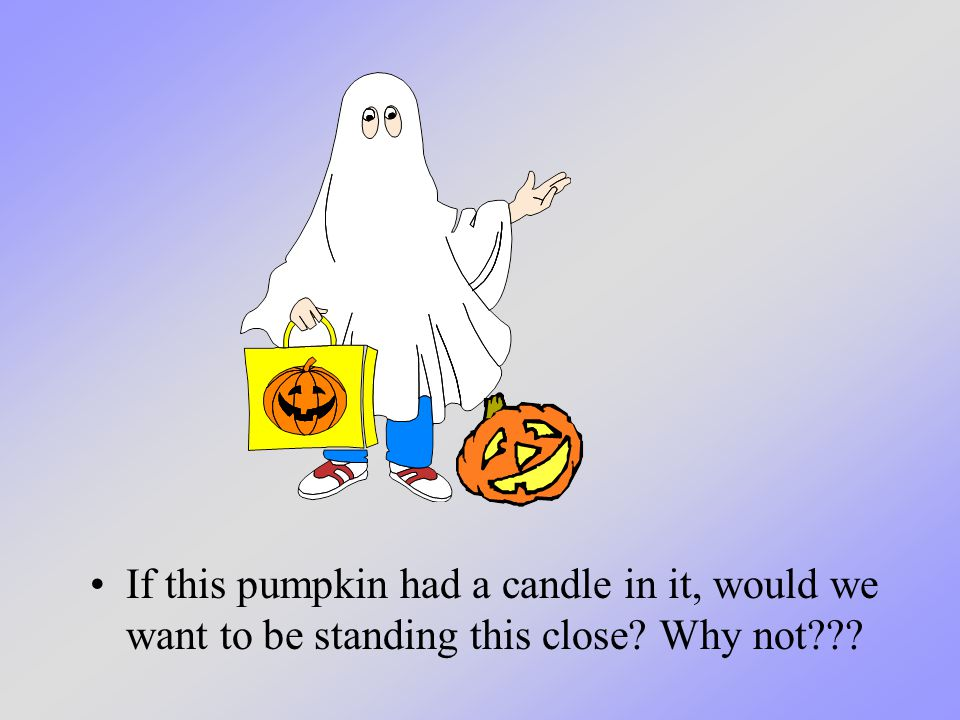 If this pumpkin had a candle in it, would we want to be standing this close? Why not???