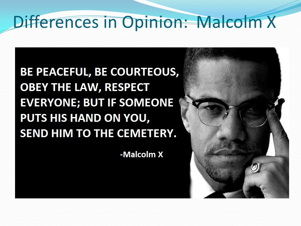 Differences in Opinion: Malcolm X