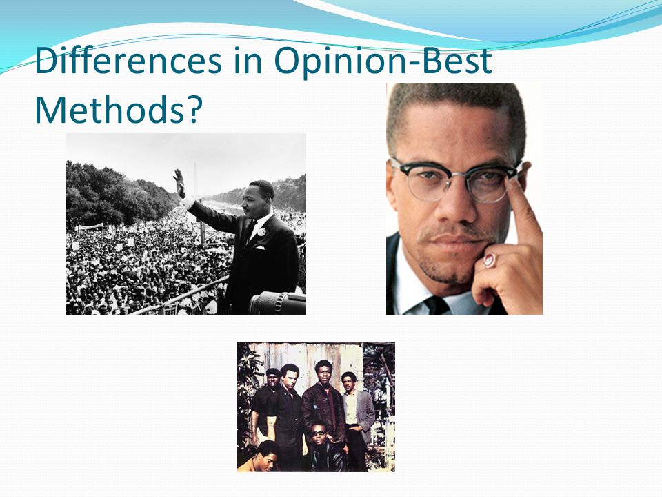 Differences in Opinion-Best Methods