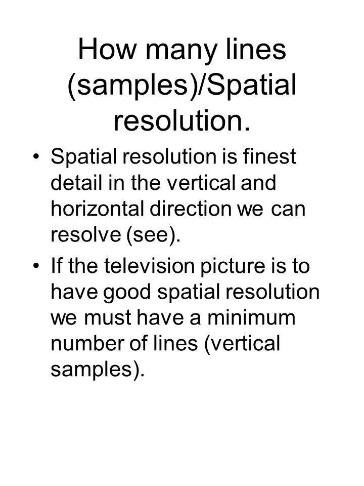How many lines (samples)/Spatial resolution.
